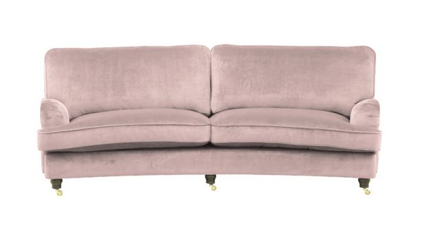 Oxford 3-sits svängd dusty pink
